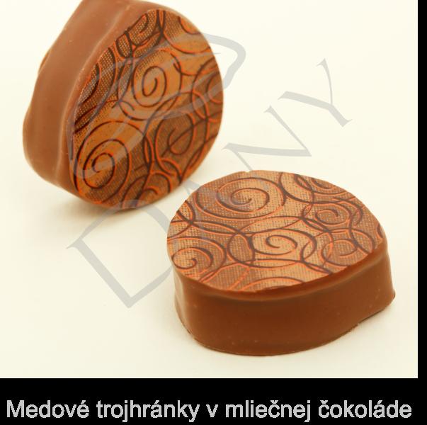 Pralinky-Medove-trojhranky-v-mliecnej-cokolade
